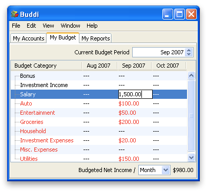 Image of Budget (Windows)