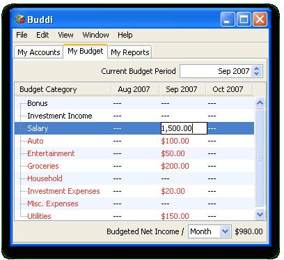 Buddi full screenshot