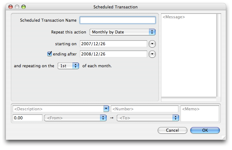 Image of Scheduled Transactions (OS X)